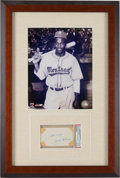 Autographs:Others, 1950's Jackie Robinson Signed Cut Signature Display, PSA/DNA Authentic.. ...