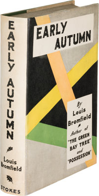 Louis Bromfield. Early Autumn. New York: Frederick A. Stokes Company, 1926. First edition of th