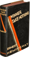 Books:Literature 1900-up, Ernest Hemingway. Winner Take Nothing. New York: CharlesScribner's Sons, 1933. First edition and the first appe...