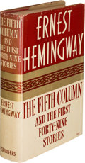 Books:Literature 1900-up, Ernest Hemingway. The Fifth Column and the First Forty-NineStories. New York: Charles Scribner's Sons, 1938. Fi...