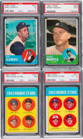 Baseball Cards:Sets, 1963 Topps Baseball Near Set (570/576). ...