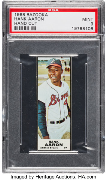 1968 Bazooka Hank Aaron Psa Mint 9 Baseball Cards Singles Lot