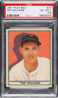 Baseball Cards:Singles (1940-1949), 1941 Play Ball Ted Williams #14 PSA VG-EX+ 4.5....