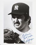 Baseball Collectibles:Photos, Late 1970's Thurman Munson Signed Photograph. ...