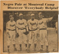 Baseball Collectibles:Photos, Circa 1946 Jackie Robinson Signed Newspaper Photograph. ...