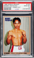 Boxing Cards:General, 1999 World Boxing Magazine Manny Pacquiao #143 PSA Gem Mint 10....
