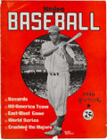 Baseball Collectibles:Publications, 1946 Negro League Yearbook with Jackie Robinson on Cover. ...