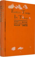 Books:Americana & American History, John C. Duval. Early Times in Texas or the Adventures of JackDobell. Dallas: Tardy Publishing Company, 1936....