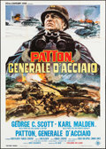 "Movie Posters:War, Patton (20th Century Fox, 1970). Italian 4 - Fogli (55.25"" X 78"").War.. ..."