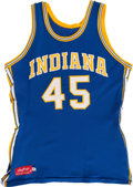 Basketball Collectibles:Uniforms, 1976-77 Rudy Hackett Game Worn Indiana Pacers Jersey....