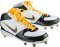Football Collectibles:Others, 2010 Hines Ward Game Worn, Signed Cleats and Gloves - Used 11/21 Vs. Oakland....