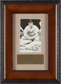 Baseball Collectibles:Photos, Circa 1980 Hank Greenberg Signed Photograph....