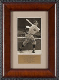 Baseball Collectibles:Photos, 1930's Rogers Hornsby Signed Photograph, PSA/DNA NM-MT 8....