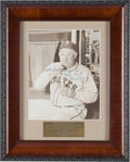 Baseball Collectibles:Photos, 1940's Honus Wagner Signed Photograph....