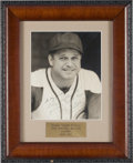 Baseball Collectibles:Photos, Early 1940's Jimmie Foxx Signed Photograph....