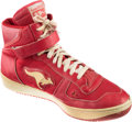 Basketball Collectibles:Others, 1983-84 Clyde Drexler Game Worn, Signed Rookie Sneaker....