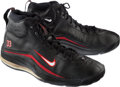 Basketball Collectibles:Others, Circa 2000 Alonzo Mourning Game Worn Miami Heat Sneakers....