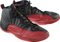 Basketball Collectibles:Others, 2003 Quentin Richardson Game Worn Air Jordan XII Los Angeles Clippers Sneakers....