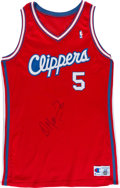 Basketball Collectibles:Uniforms, Circa 1990-91 Danny Manning Game Worn Los Angeles ClippersJersey....
