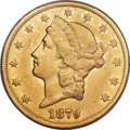 Liberty Double Eagles, 1879-CC $20 XF45 PCGS. Variety 1-A....