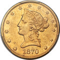 Liberty Eagles, 1870-CC $10 -- Cleaning -- PCGS Genuine. XF Details....