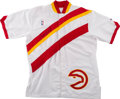 Basketball Collectibles:Uniforms, 1991 Atlanta Hawks Game Worn Warmup Jacket Signed by DominiqueWilkins....