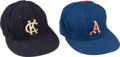 Baseball Collectibles:Hats, 1960's Kansas City Athletics Game Worn Caps Lot of 2. ...