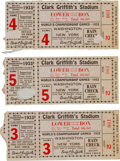 Baseball Collectibles:Tickets, 1933 World Series Ticket Stubs Lot of 3. ...