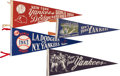 Baseball Collectibles:Others, 1930's-'60's New York Yankees Pennants Lot of 4. ...
