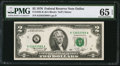Error Notes:Inking Errors, Overinked District Seal Fr. 1935-K $2 1976 Federal Reserve Note.PMG Gem Uncirculated 65 EPQ.. ...