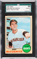 Baseball Cards:Singles (1960-1969), 1968 Topps Mike McCormick (White Letters) #400 SGC 88 NM/MT 8 - None Higher....