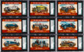 "Non-Sport Cards:Lots, Extremely Rare 1954 Stark & Wetzel ""500 Mile Race Winners"" SGCGraded Collection (9). ..."