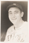 Baseball Collectibles:Photos, 1930's Tony Lazzeri Signed Original Photograph by George Burke....