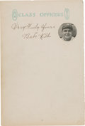 Baseball Collectibles:Others, 1930's Babe Ruth Signed Stationery. ...