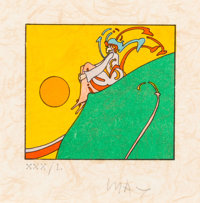 Peter Max (American, b. 1937) Dawn, 1973 Lithograph in colors on paper 3-1/2 x 4 inches (8.9 x 10
