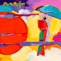 Prints, Peter Max (American, b. 1937). New Moon (Retro Suite), 2009. Screenprint in colors with acrylic on paper. 11 x 11 inches...