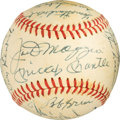 Baseball Collectibles:Balls, 1981 New York Yankees Greats Multi-Signed Baseball with Mantle & DiMaggio. ...