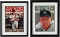 Baseball Collectibles:Photos, 1990's Mickey Mantle and Ted Williams Signed Upper DeckAuthenticated Prints (2)....