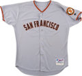 Baseball Collectibles:Uniforms, 2001 Barry Bonds Game Issued San Francisco Giants Jersey. ...