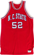 Autographs:Bats, 1985-89 Chucky Brown Game Worn North Carolina State WolfpackJersey....