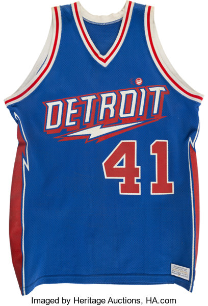 new product 15aa7 ef9a9 1980-81 Terry Tyler Game Worn Detroit Pistons Jersey and ...