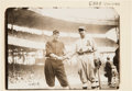 Baseball Collectibles:Photos, Circa 1911 Larry Doyle & Eddie Collins World Series OriginalNews Photograph from Bain, PSA/DNA Type 1. ...
