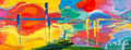 Fine Art - Painting, American:Contemporary   (1950 to present)  , Peter Max (American, b. 1937). Summer, from the FourSeasons series, 2007. Color lithograph with acrylic paintingon...