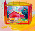 Fine Art - Painting, American:Contemporary   (1950 to present)  , Peter Max (American, b. 1937). Big Pink, 1994. Acrylicpainting on color lithograph laid on paper. 31-1/2 x 36 inches(8...