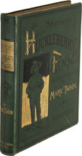 Books:Literature Pre-1900, Mark Twain. Adventures of Huckleberry Finn. New York:Charles L. Webster and Company, 1885. First U. S. edition, ear...