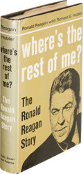 Books:Biography & Memoir, Ronald Reagan with Richard G. Hubler. Where's the Rest of Me? The Ronald Reagan Story. New York: Duell, ...