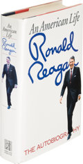 Books:Biography & Memoir, Ronald Reagan. An American Life. New York: Simon andSchuster, [1990]. First edition, inscribed by the author....