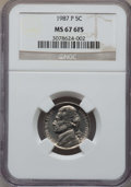 Jefferson Nickels, 1987-P 5C MS67 Full Steps NGC. NGC Census: (52/0). ...