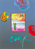 Fine Art - Painting, American:Contemporary   (1950 to present)  , Peter Max (American, b. 1937). Sage and Profile, circa 2005.Color lithograph with acrylic painting and mixed media on p...
