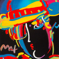 Peter Max (American, b. 1937) Retro VI Zero Spectrum, 2003 Color lithograph with acrylic painting an